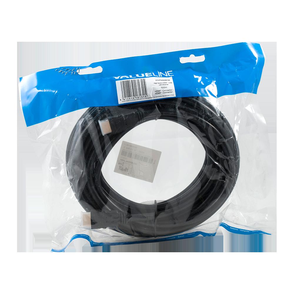 Cablu HDMI de mare viteza, conector HDMI Ethernet, 10 m imagine 2021 mathaus