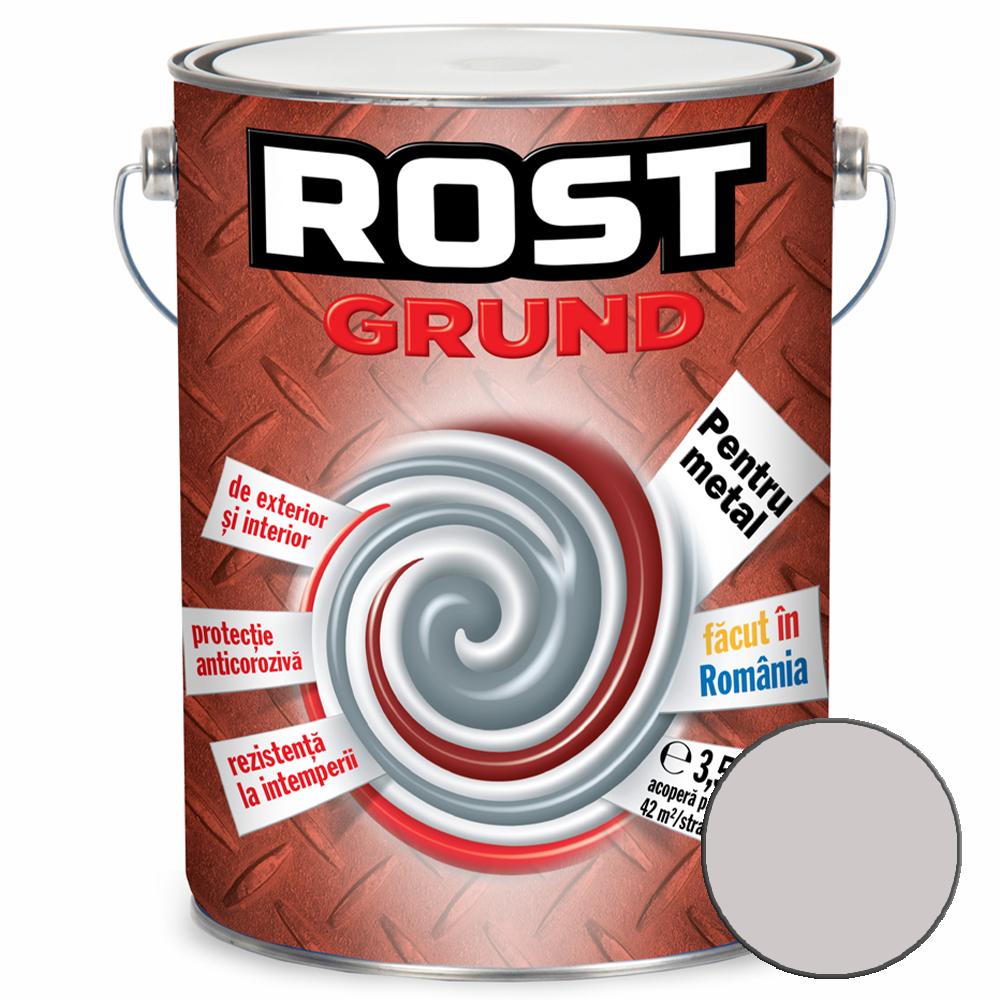 Grund pentru metal, Rost, gri, 3,5 l