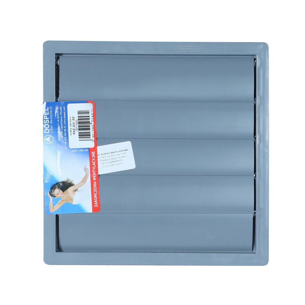 Grila ventilatie rectangulara cu jaluzele automate RKZ200 imagine 2021 mathaus