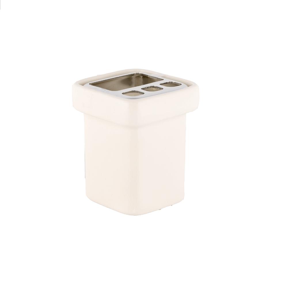 Suport periute de dinti Flat, ceramica, 9 x 10,5 x 10,5 cm imagine 2021 mathaus