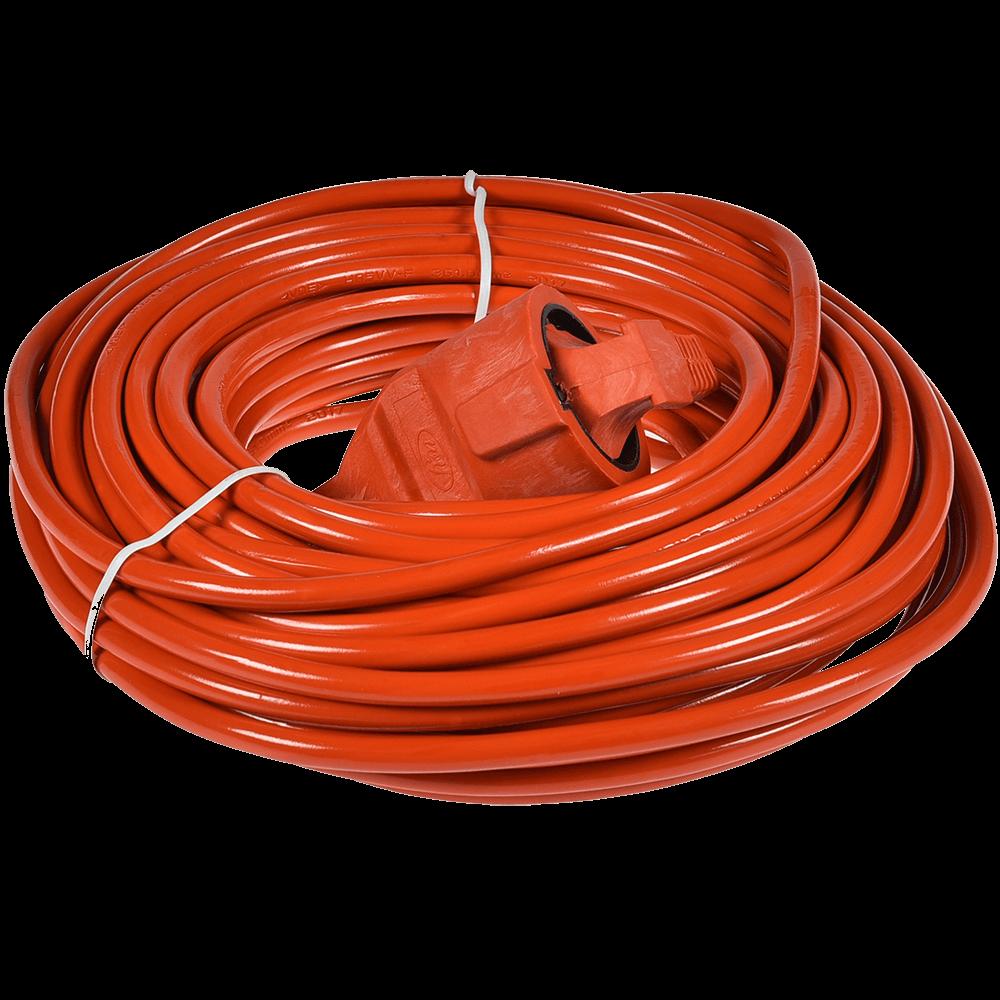 Prelungitor Kuper 1 priza, 30 m, 2500W, portocaliu imagine MatHaus