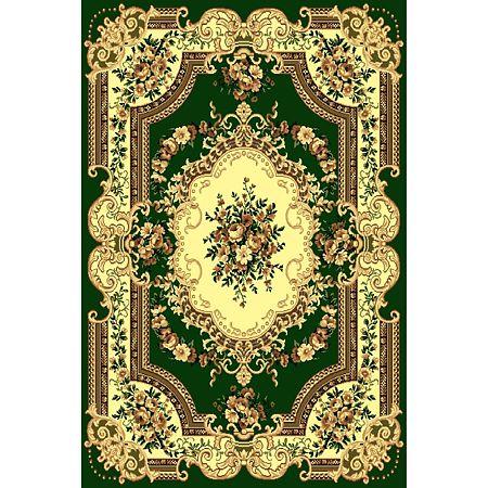 Covor clasic Gold 047/32, polipropilena BCF, verde-bej, 140 x 200 cm