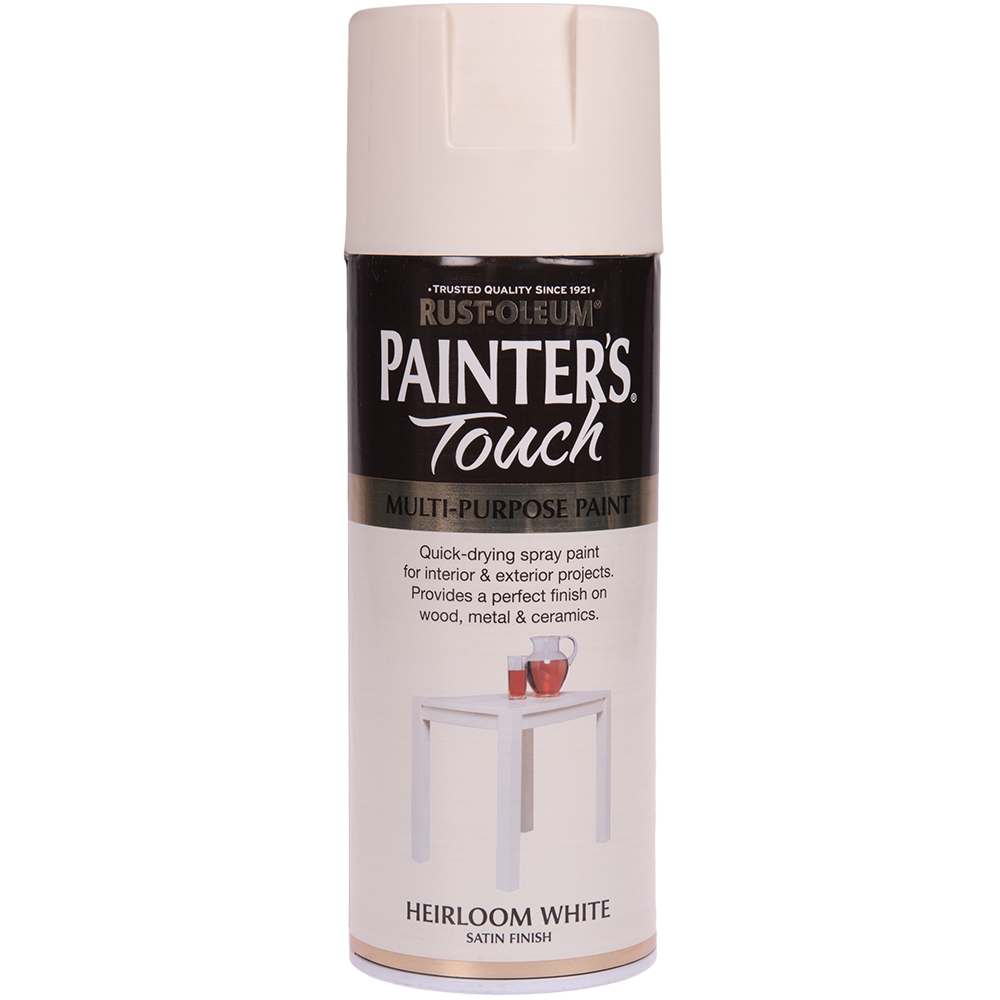 Spray Rust-Oleum Painter`s Touchs, satin, alb antic (heilroom white), 400 ml imagine MatHaus