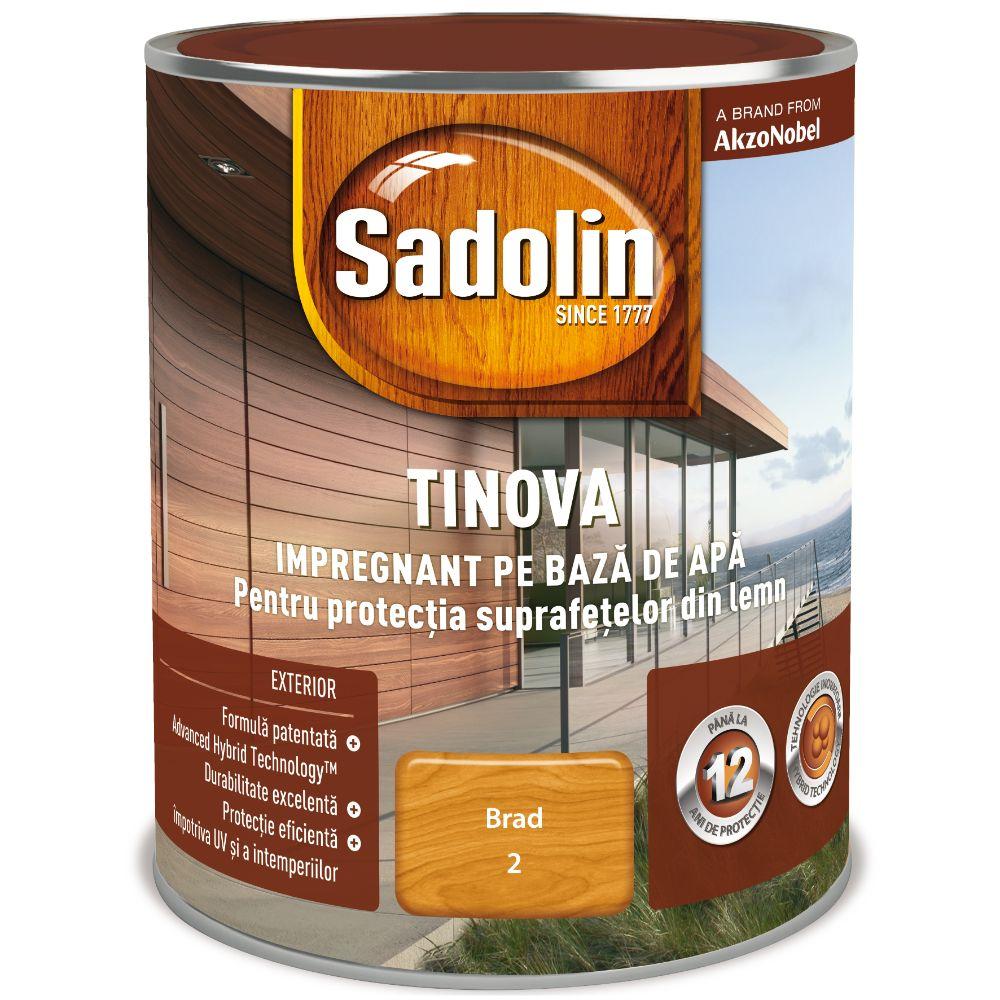 Impregnant pe baza de apa, Sadolin Tinova, pentru lemn, brad, 0,75 l imagine 2021 mathaus