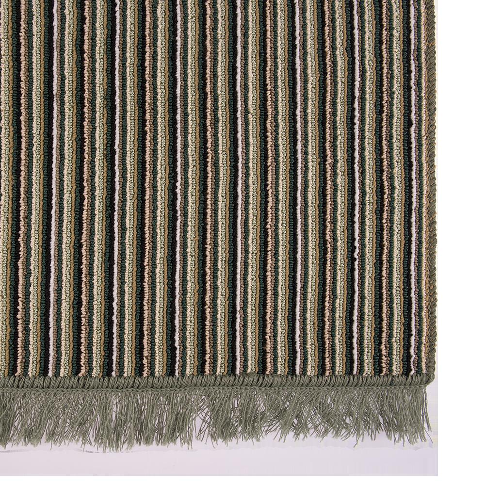 Covor bucatarie Niagara, 100% polipropilena, model cu dungi verde-bej, 50 x 80 cm imagine MatHaus
