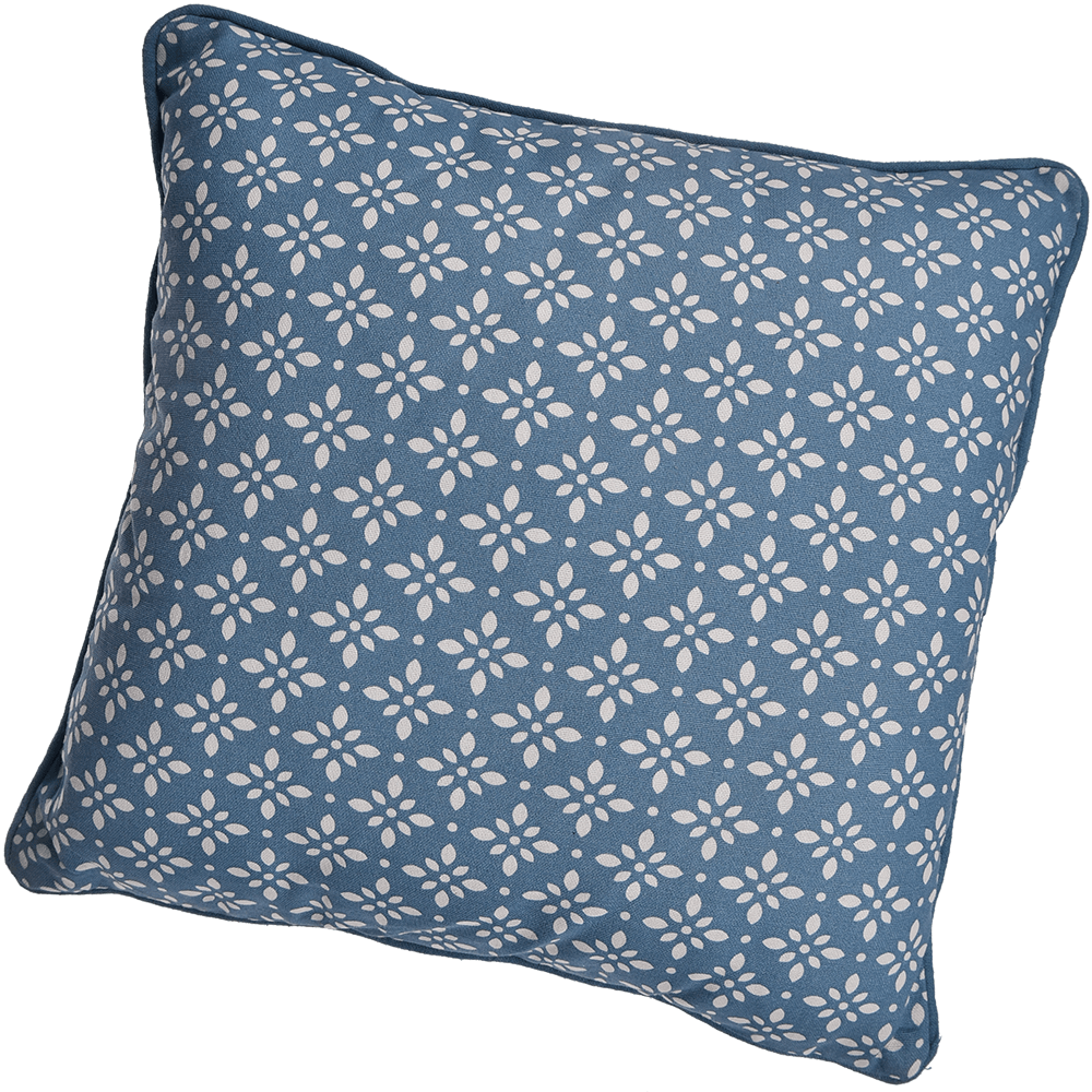 Perna decorativa Mosaik, bleu inchis, 40 x 40 cm, patrata, 100% bumbac mathaus 2021