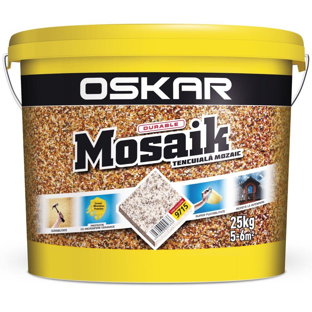 Tencuiala decorativa Oskar Mosaik, 9715, interior/exterior, 25 kg