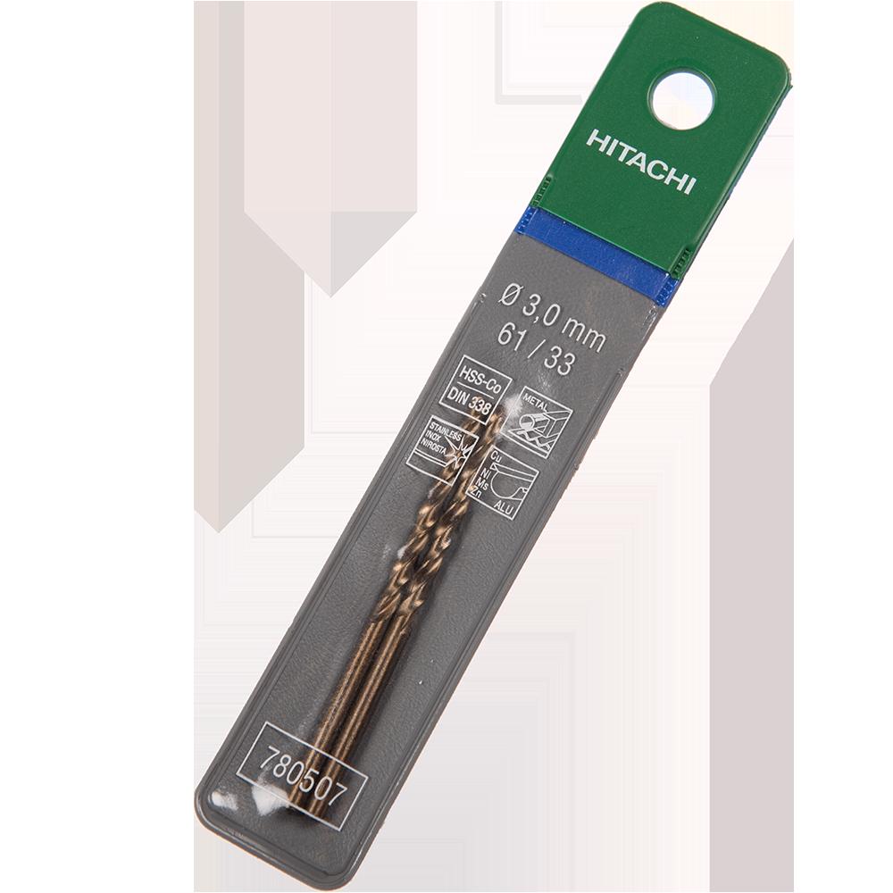 Burghiu Hikoki HSS-Co, mandrina standard, pentru metal, 3 mm imagine MatHaus.ro