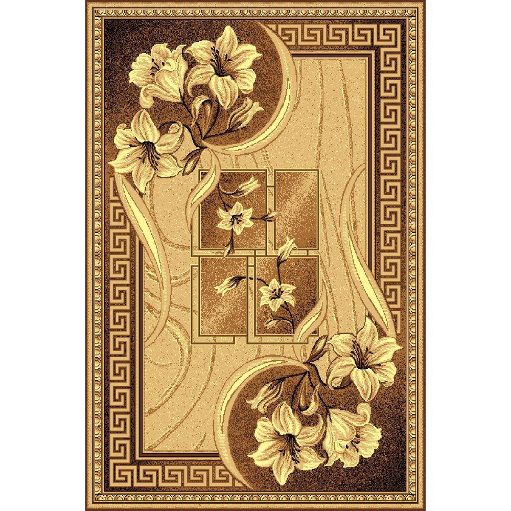 Covor clasic Gold 365/12, polipropilena BCF, bej-maro, 50 x 80 cm imagine 2021 mathaus