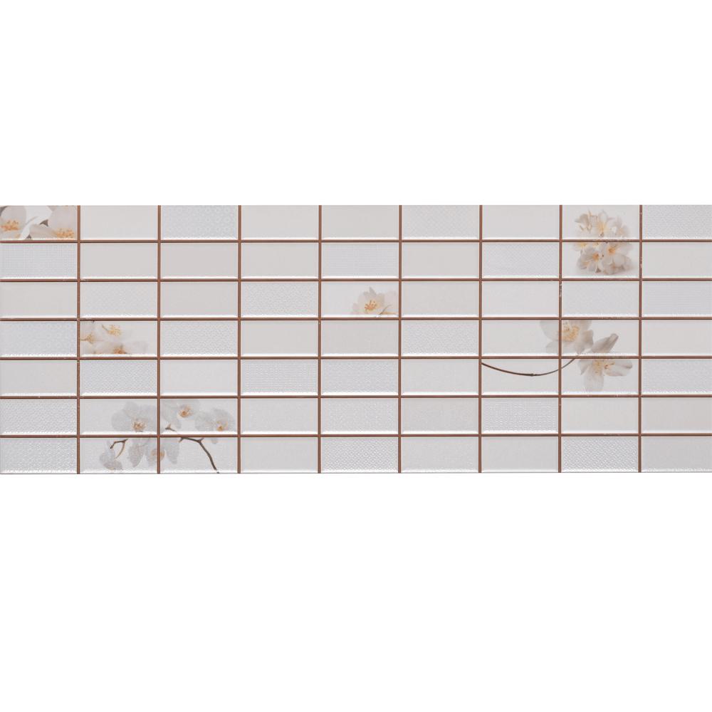 Faianta decorativa Dual Gres Dglam, finisaj estetic, alb, model geometric cu tema primavara, 22,5 x 60 cm imagine 2021 mathaus