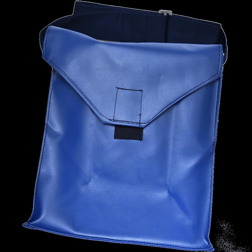 Geanta pentru masca de gaze, piele ecologica, albastru imagine MatHaus.ro