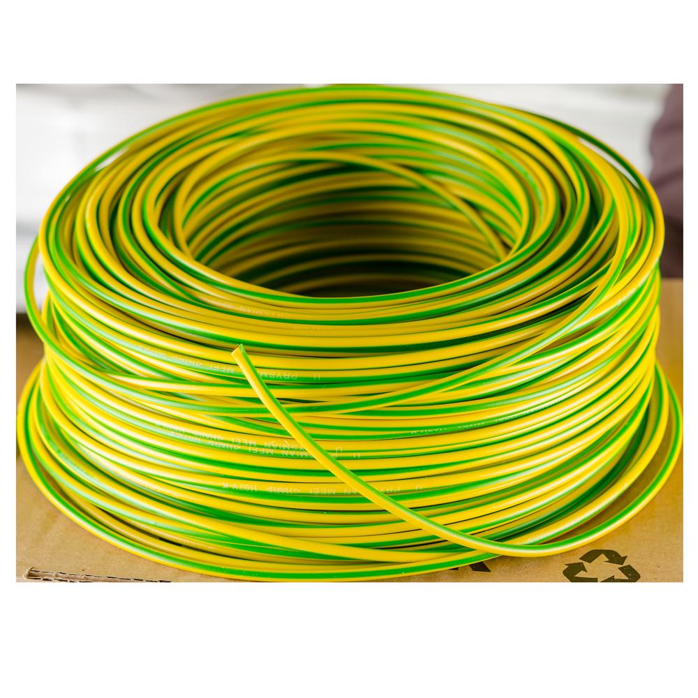 Cablu electric MYF (H05V-K) 2.5 mmp, izolatie PVC, galben-verde imagine 2021 mathaus