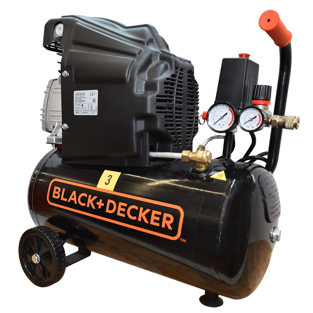 Compresor de aer Black&Decker 205/24, 1500 W, 2850 rpm, 8 bar, 24 l imagine 2021 mathaus