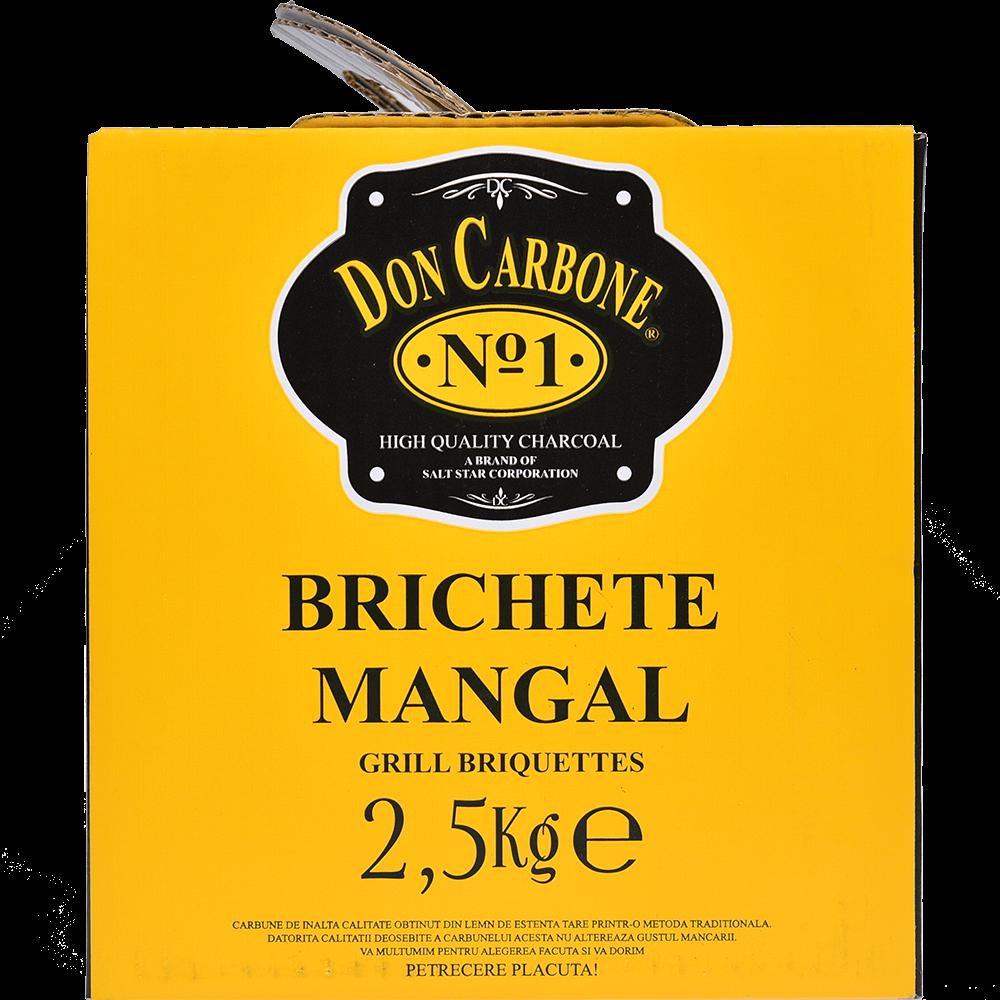 Brichete mangal gratar Don Carbone, mangal, cutie carton,2,5 kg imagine 2021 mathaus
