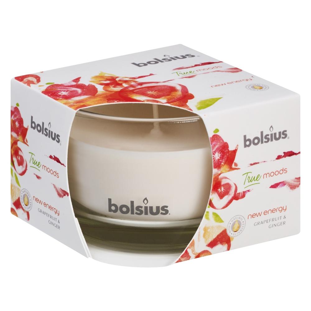Lumanare parfumata Bolsius True Moods New Energy, alb, gref si ghimbir, 50 x 80 mm imagine 2021 mathaus