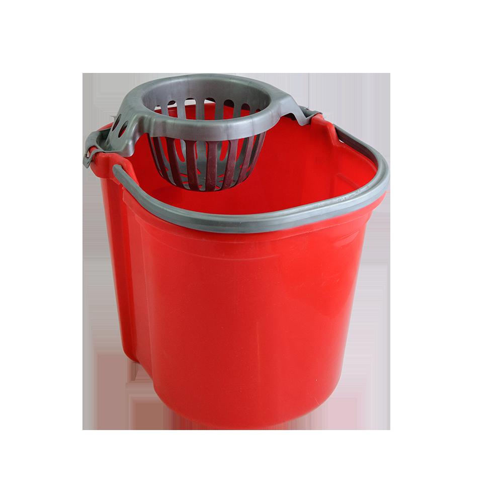 Galeata ovala cu storcator, Plastina, rosu, 13 L mathaus 2021