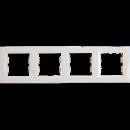 Rama 4 module Asfora, Schneider EPH5800421, alb
