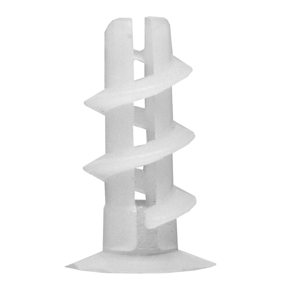 Diblu simplu tip melc pentru gips-carton, alb, 100 buc mathaus 2021