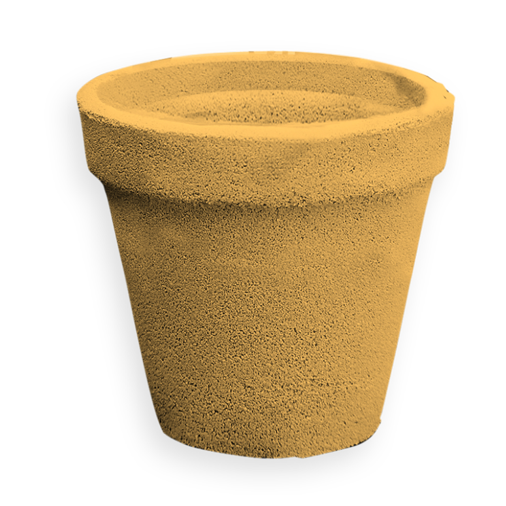 Ghiveci Cementarte, beton, diametru 34 cm, 30 cm imagine MatHaus.ro