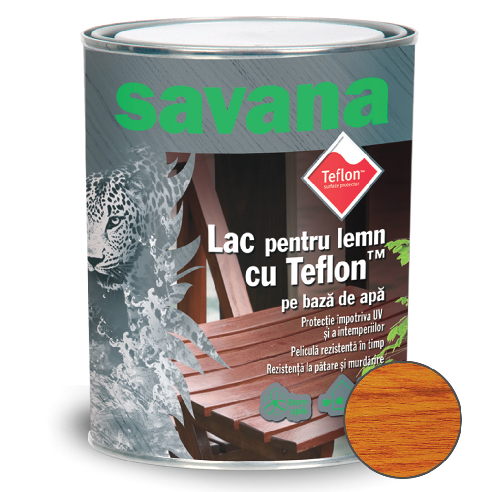 Lac acrilic Savana pentru Lemn cires 0,75 L