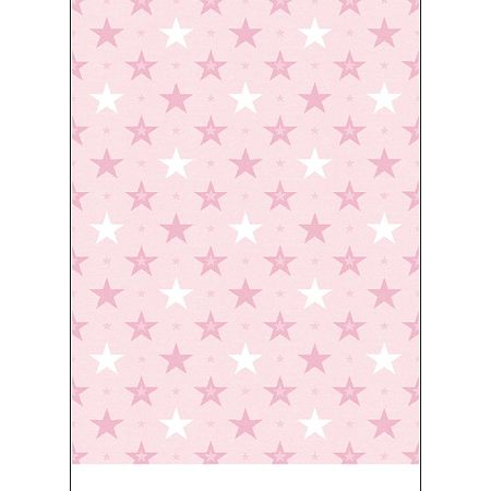 Covor copii Kids Pink Stars, model cu stele, poliester, 70 x 140 cm