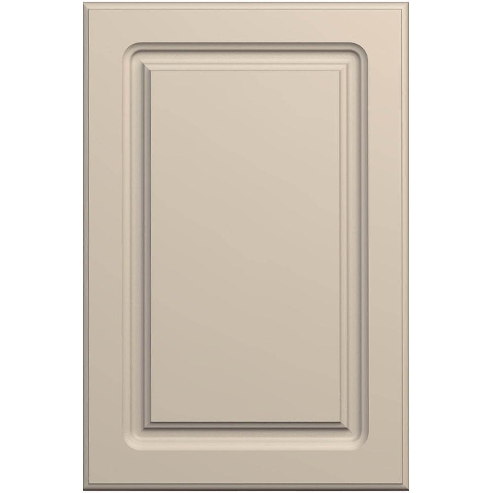 Front MDF infoliat, Bej nisip mat, Nett Front P1, 387 x 397 x 18 mm