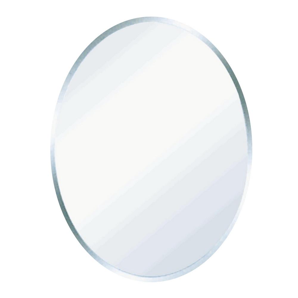 Oglinda de baie Gobe YH-8014, clasic, sticla, alb, 70 x 50 cm