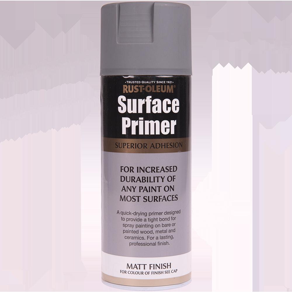 Spray universal primer/grund Rust-Oleum, mat, negru, 400 ml imagine 2021 mathaus