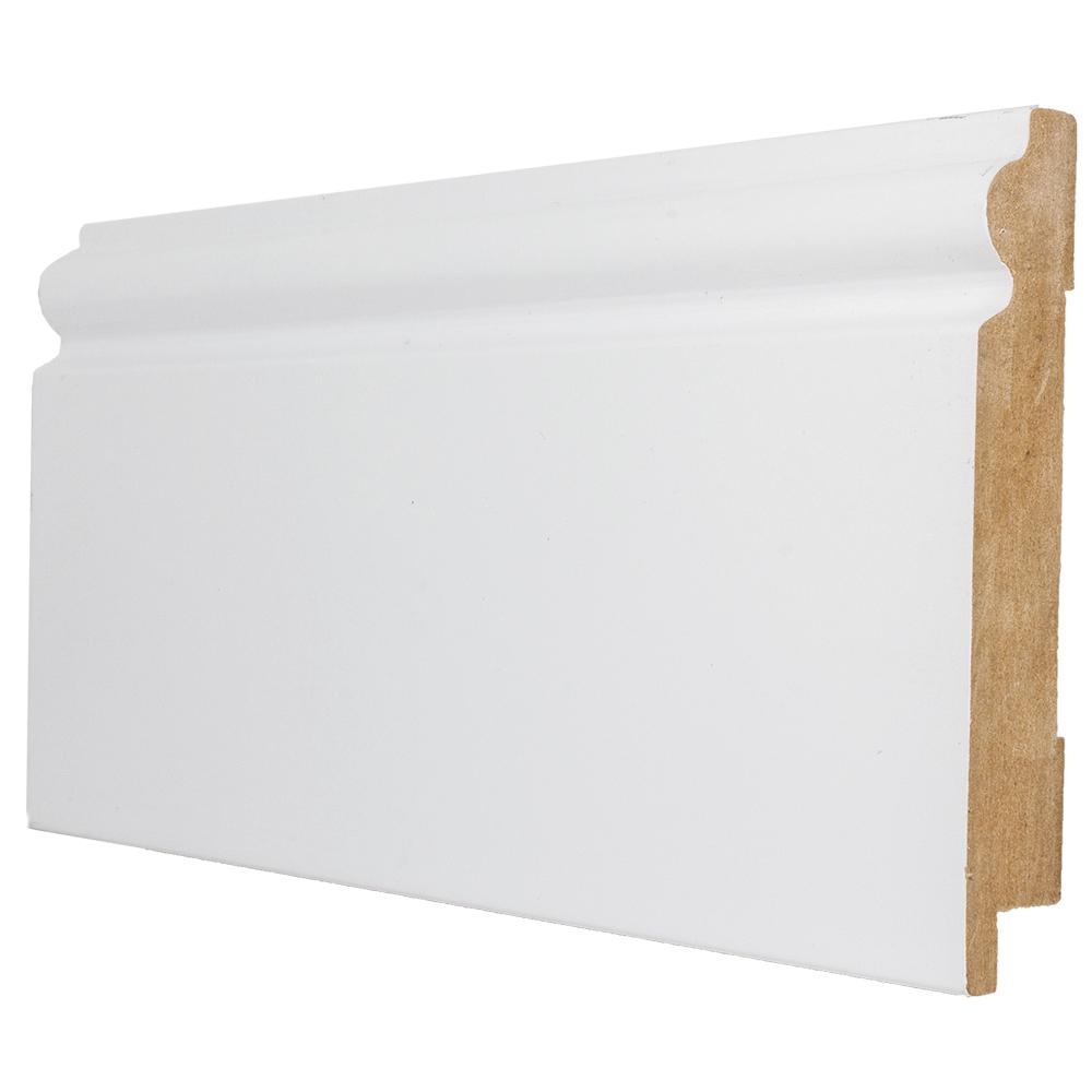 Plinta parchet, MDF, alb, 2800x99x16 mm imagine MatHaus
