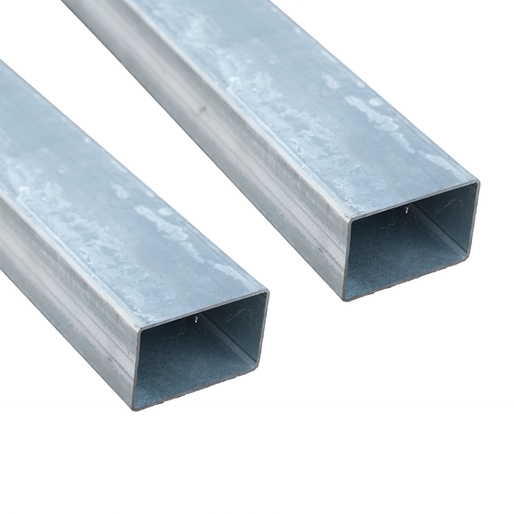 Stalp pentru gard zincat, fixare in beton 2,5 m, 60 x 40 mm imagine MatHaus