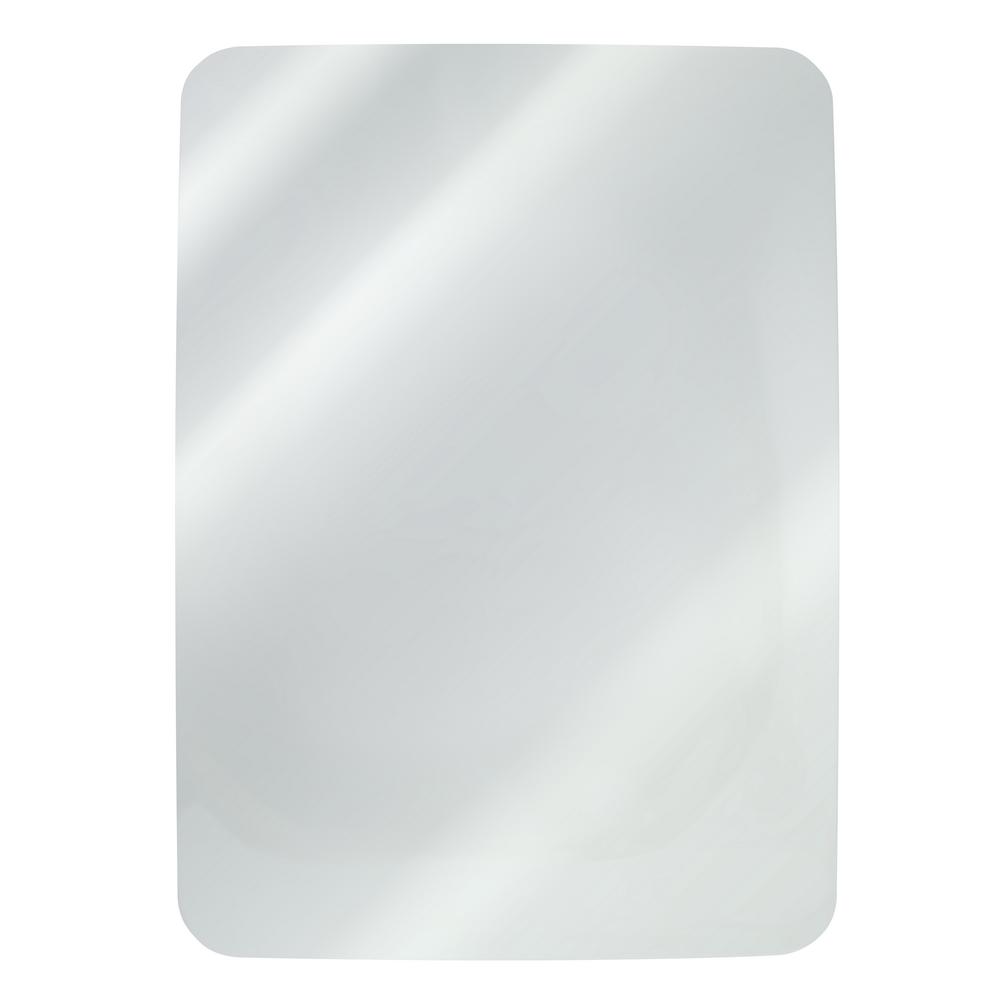 Oglinda de baie Gobe YH-8011, clasic, sticla, alb, 70 x 50 cm
