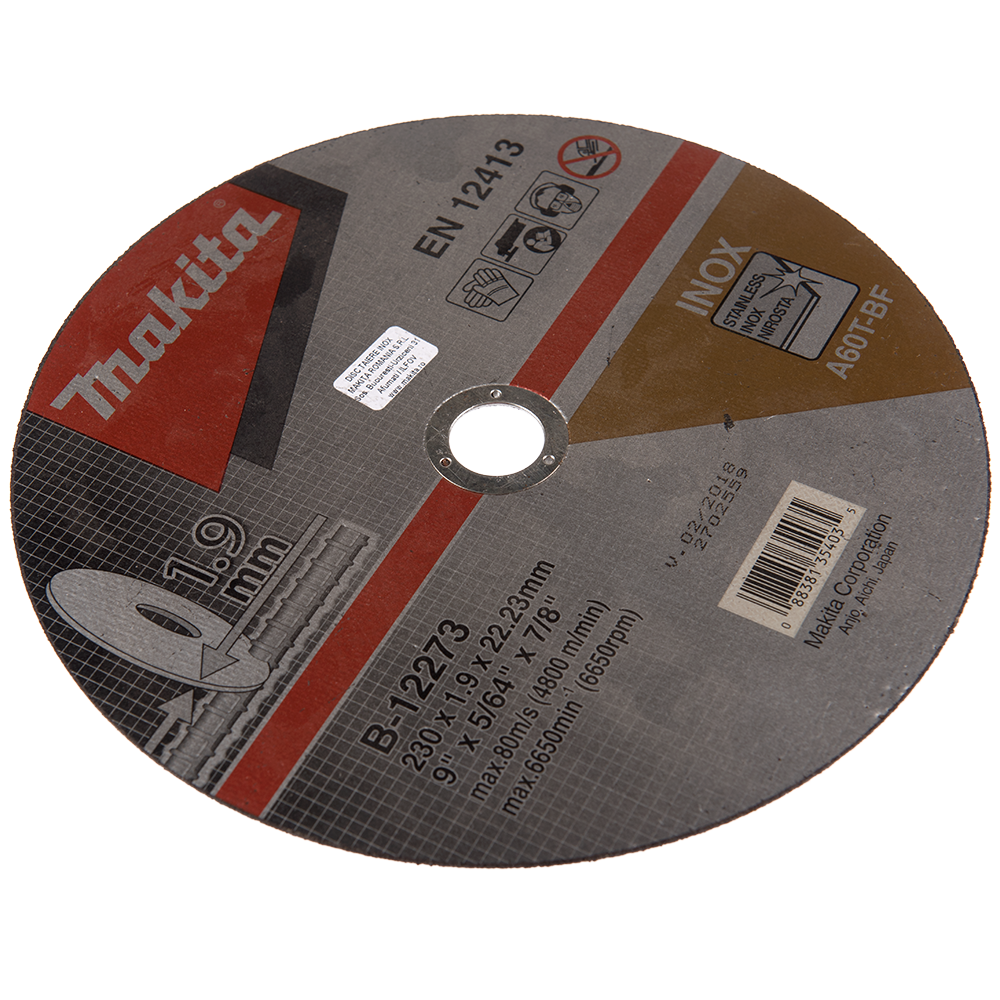 Disc Taiere Inox 230 X 1,9 X 22 mm B-12273 mathaus 2021