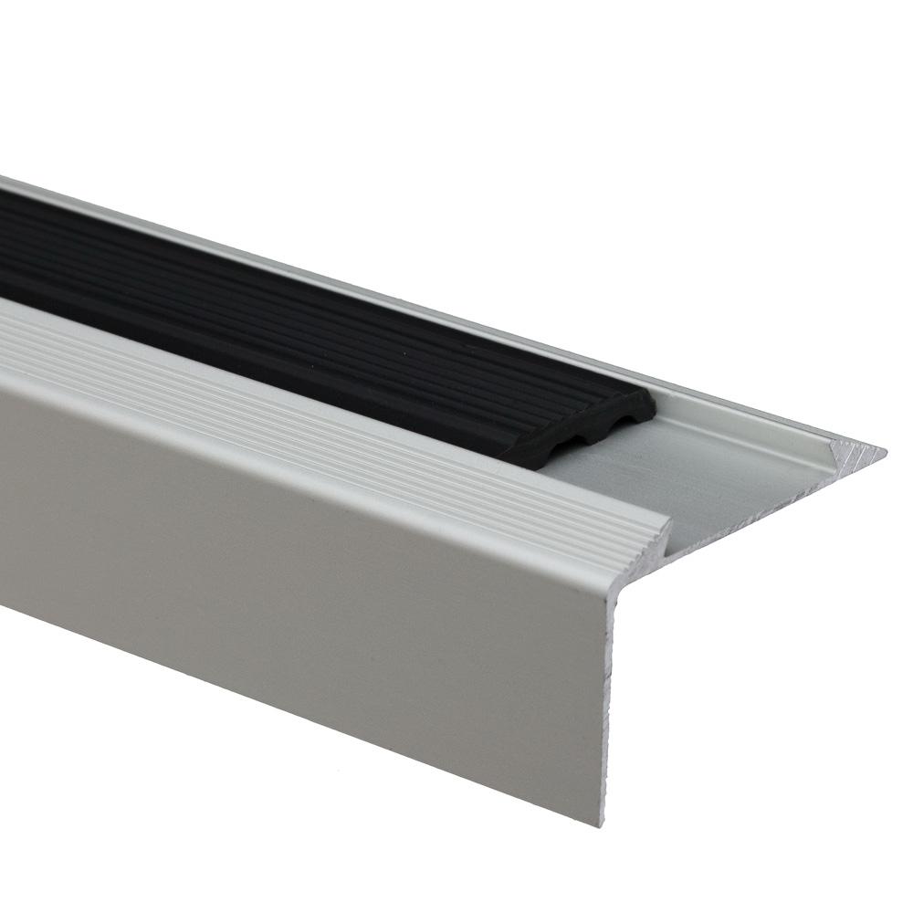 Profil de treapta cu banda antiderapanta S38, argintiu, 46 mm x 0,93 m imagine 2021 mathaus