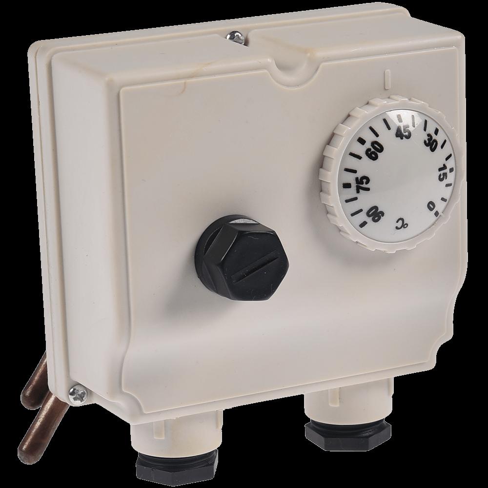 Termostat dublu de imersie TLSC-542714, 220 V imagine MatHaus.ro