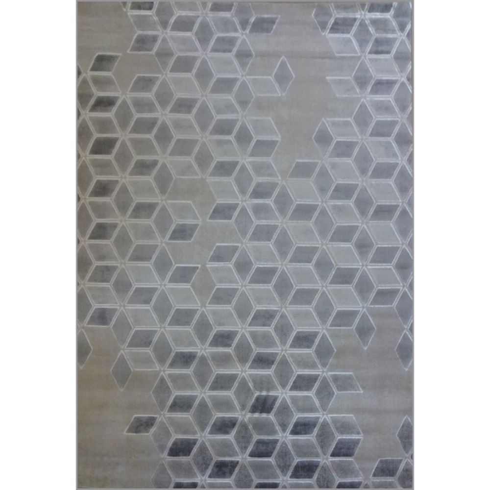Covor modern Arctic 4661, polipropilena, model geometric gri, 80 x 150 cm