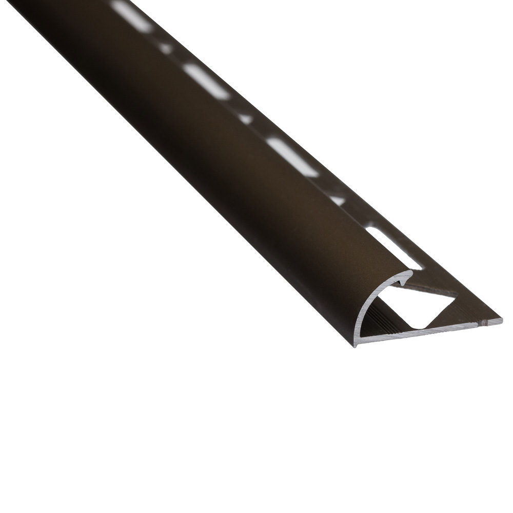 Profil de colt exterior, rotund, aluminiu, S53, 10 mm, bronz, 2,5 m