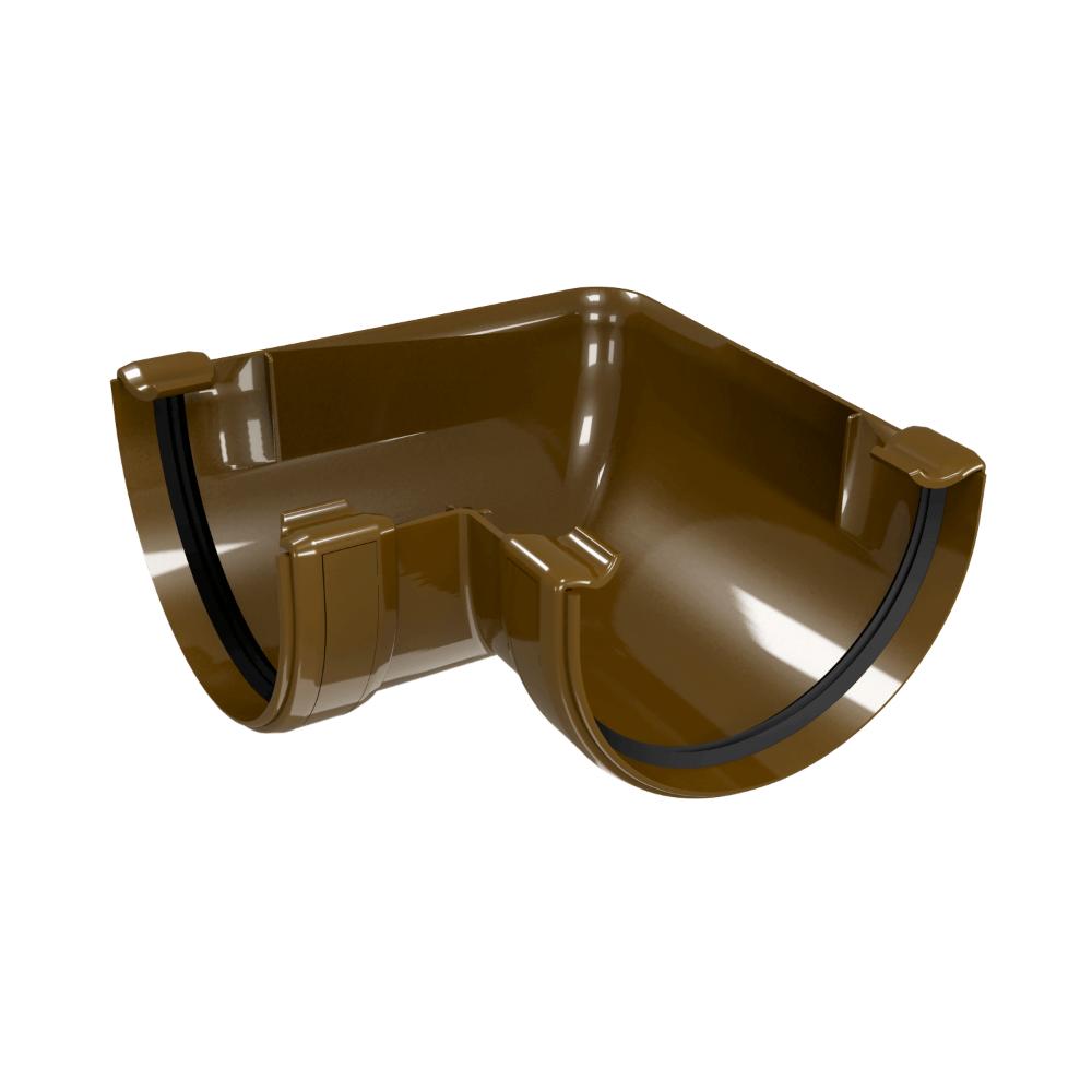 Coltar interior/exterior pentru jgheab PVC, Regenau, diam. 125 mm, maro RAL 8017 imagine 2021 mathaus