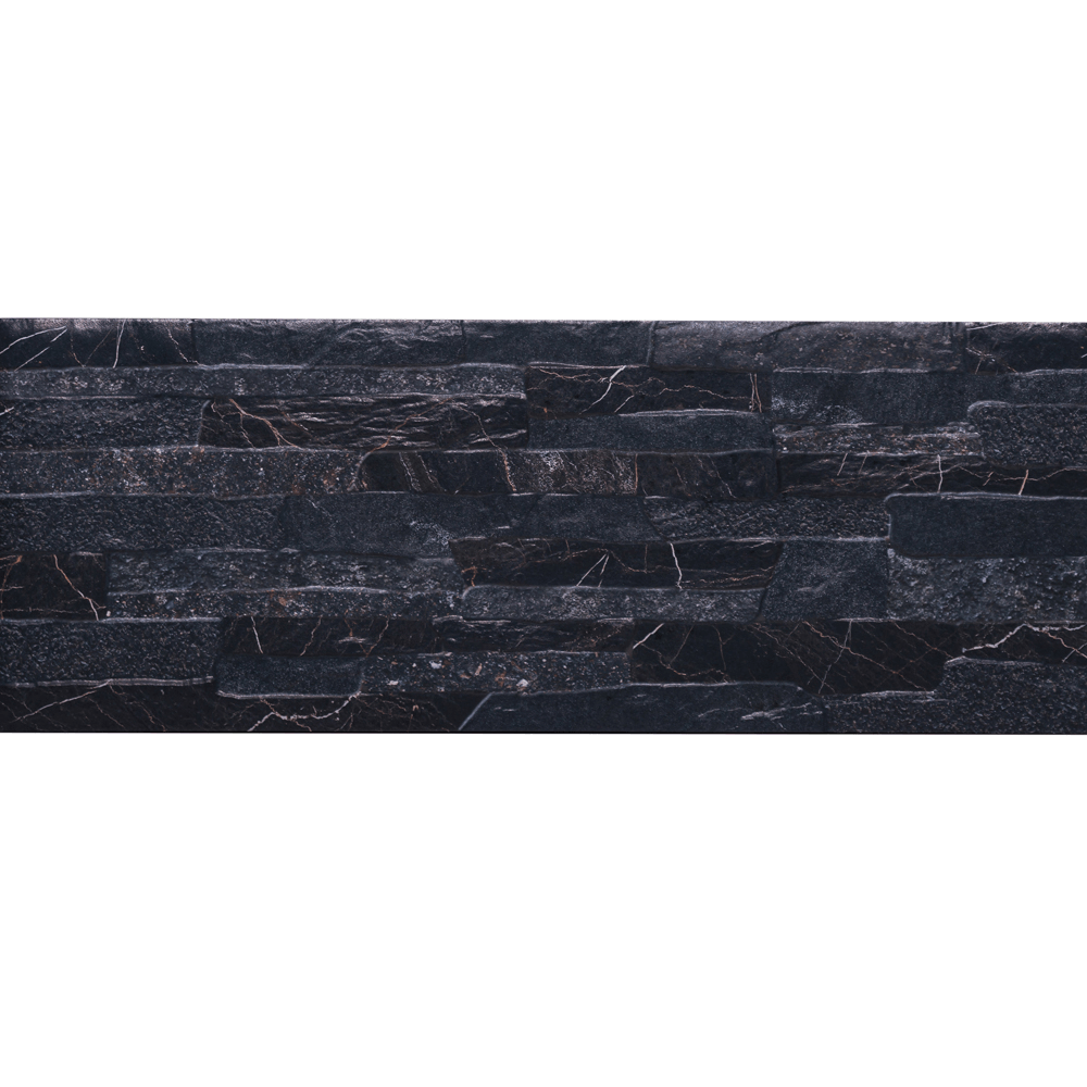 Gresie portelanata placare Quarry Black Stone 21x56 cm imagine 2021 mathaus