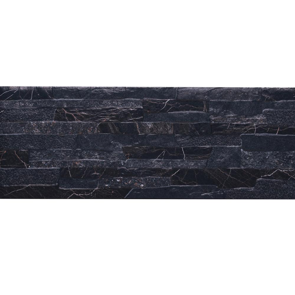 Gresie portelanata placare Quarry Black Stone 21x56 cm imagine MatHaus.ro