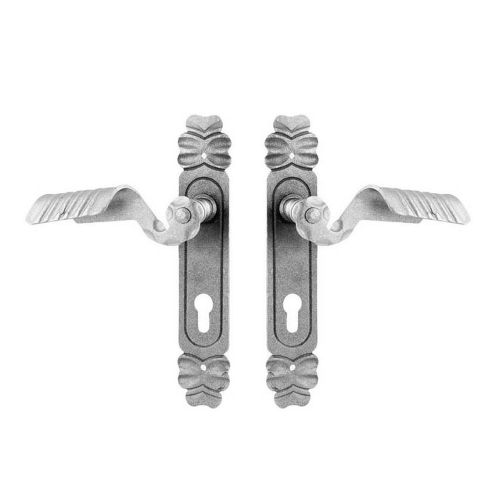 Sild cu maner pentru poarta, fier forjat, 290 x 46 x 3 mm, SET