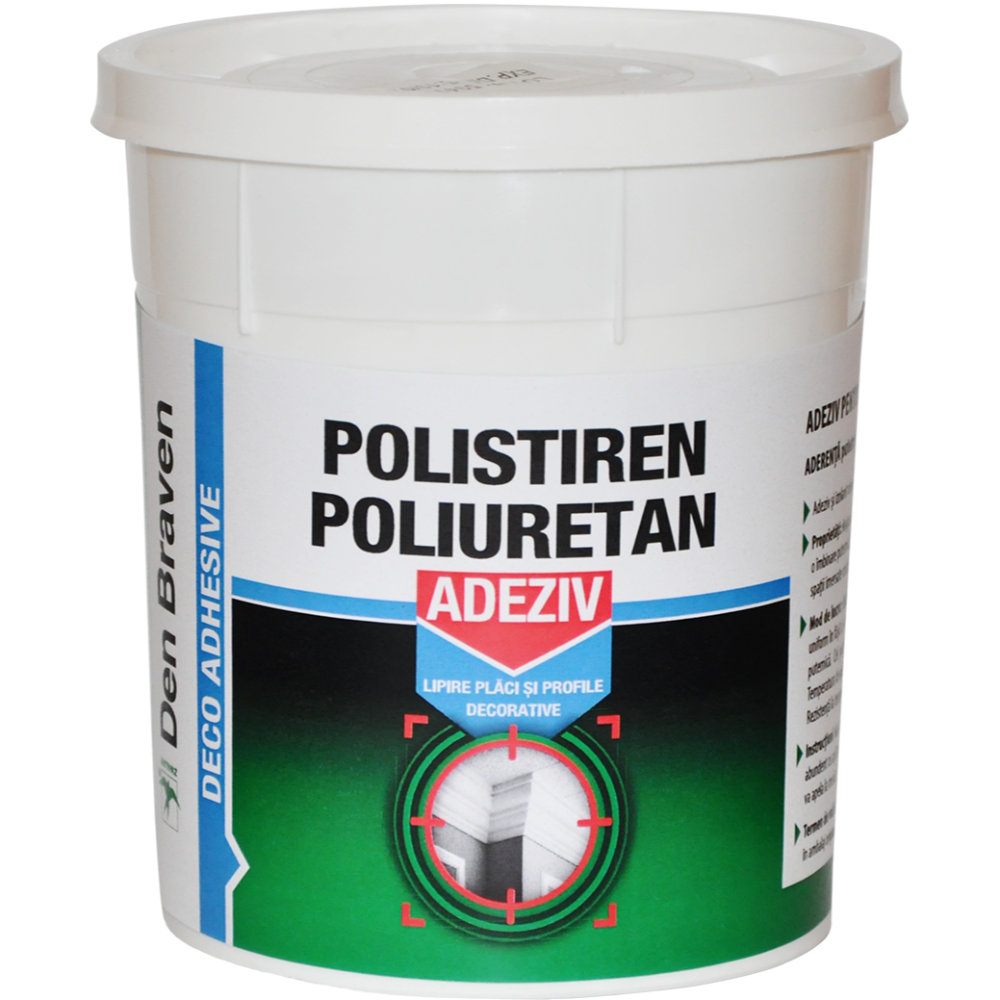Adeziv pentru polistien Den Braven Zwaluw Deco, alb, 1 kg