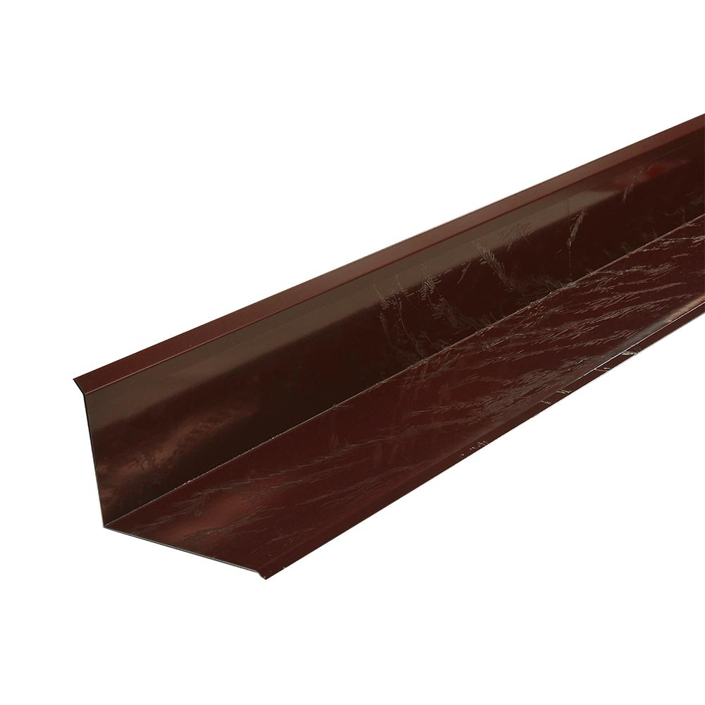 Profil mare pentru inchidere la perete, maro RAL 3009 , L: 2 m imagine 2021 mathaus