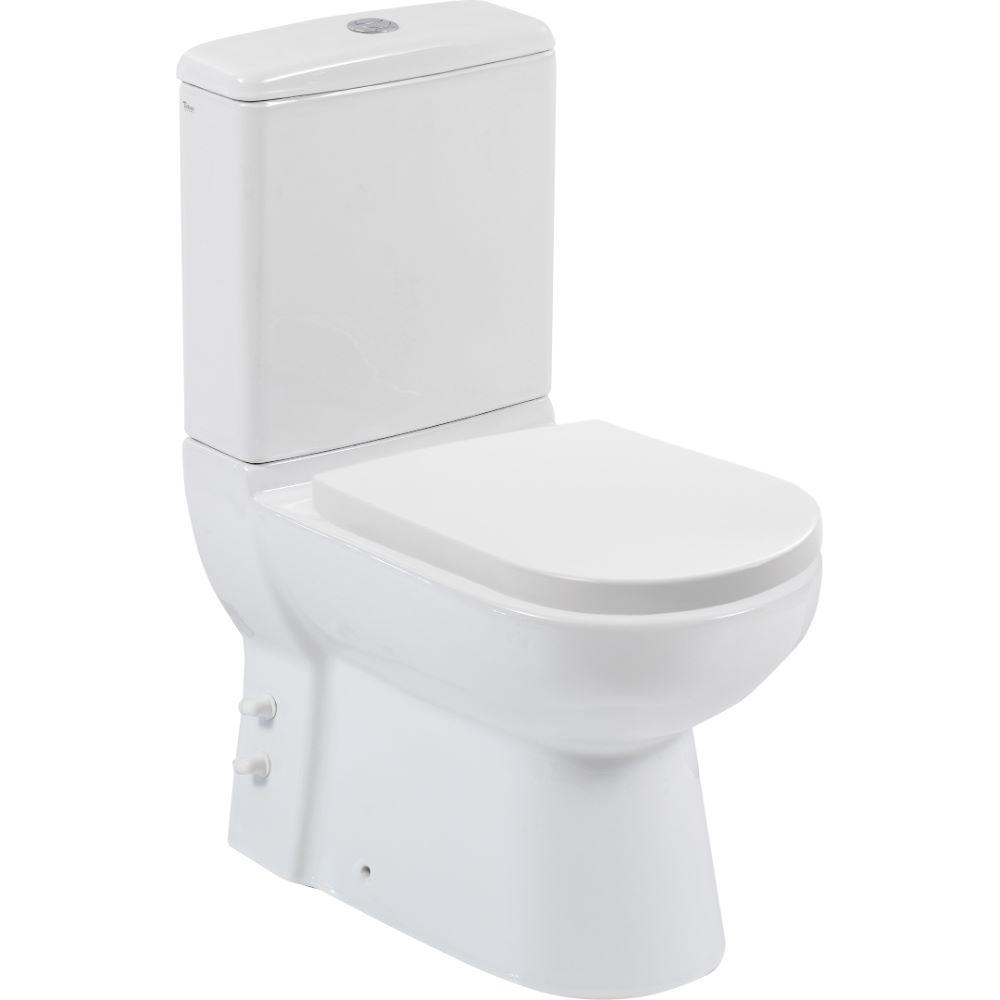 Set WC Menuet Bella, portelan, alb, evacuare laterala + rezervor, 3/6 litri imagine 2021 mathaus