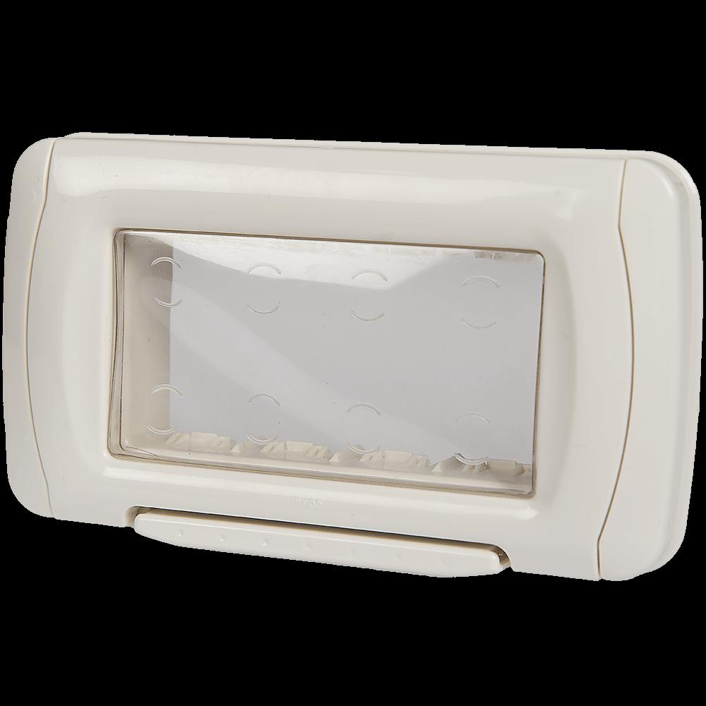 Rama protectie cu capac transparent Stil, 4 module, 108 mm imagine 2021 mathaus