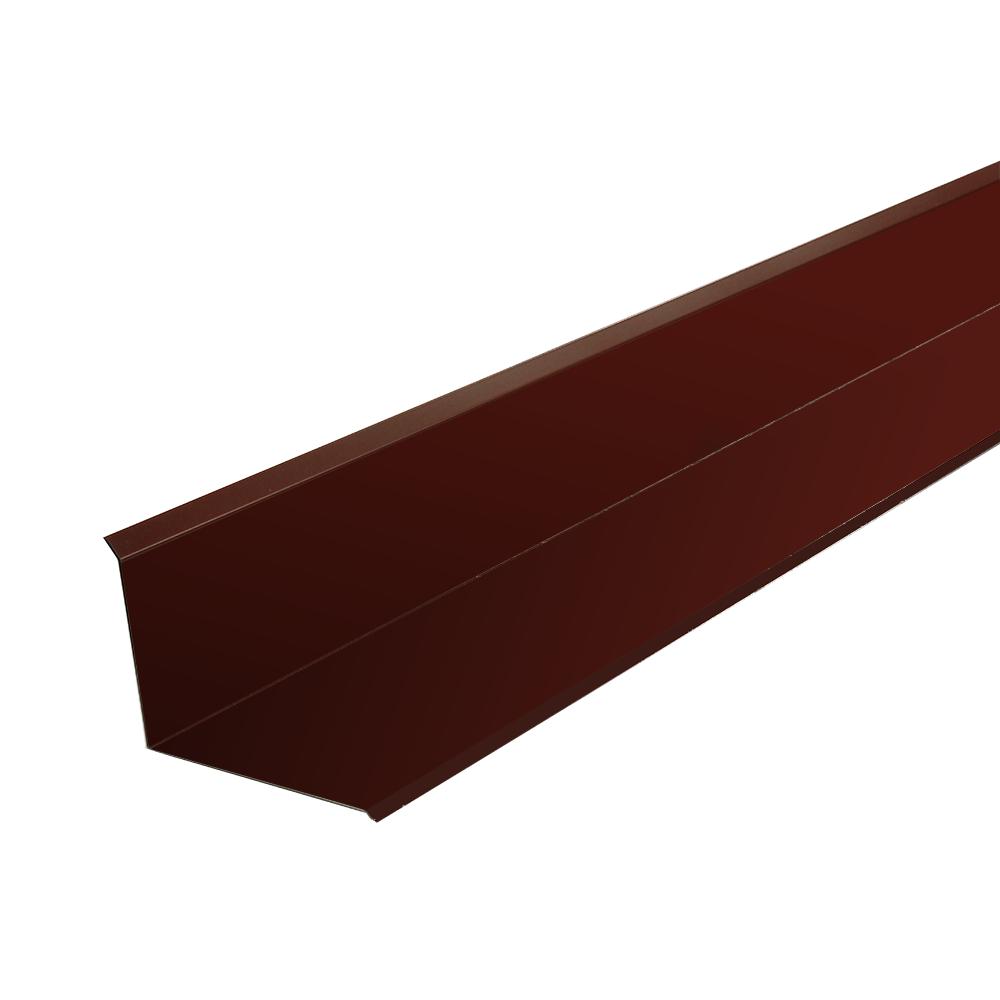 Profil mare pentru inchidere la perete, maro RAL 8017 mat, L: 2 m imagine 2021 mathaus