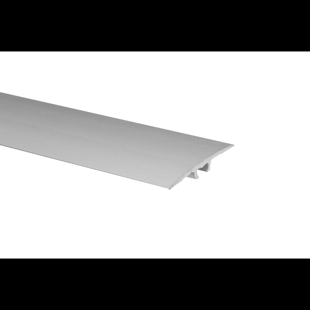 Profil de trecere cu surub mascat cu diferenta de nivel A68 Effector argintiu, 2,7 m