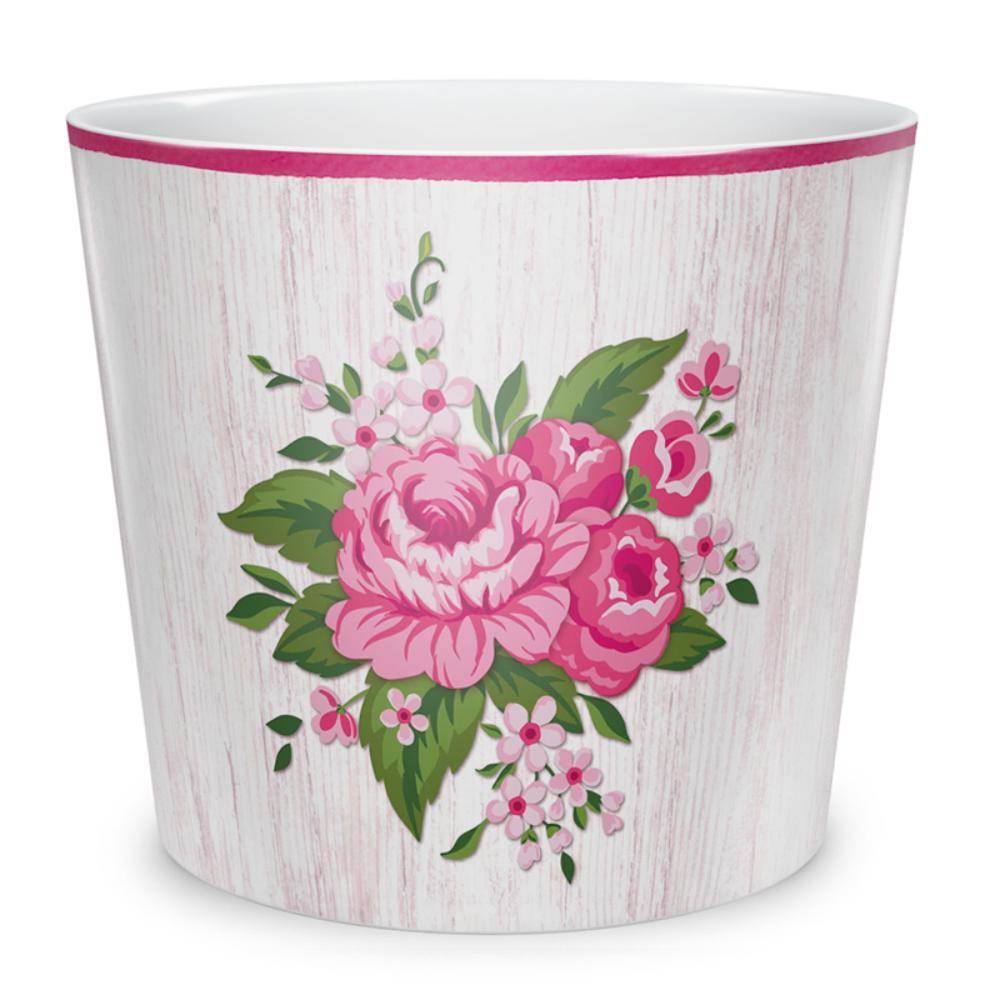 Masca ghiveci Scheurich Grande Fleur, ceramica, multicolor, 2 l, diametru 15 cm, 14 cm