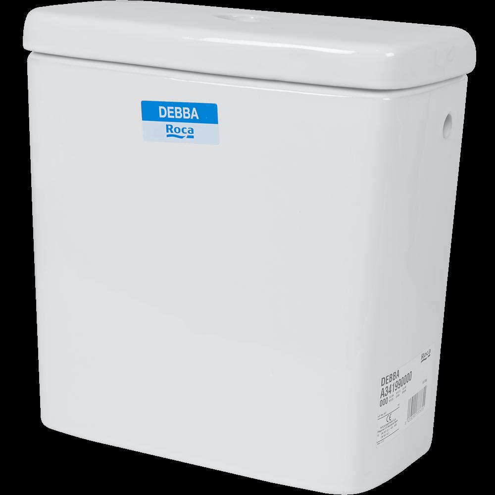 Rezervor WC ceramic Roca Debba, dubla comanda, 3-6 l, alimentare lateral stanga, alb imagine MatHaus.ro