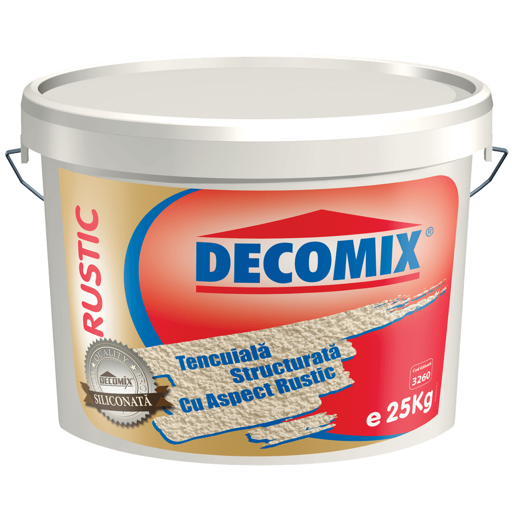 Tencuiala decorativa Decomix K15 Rustic, 25 kg imagine 2021 mathaus
