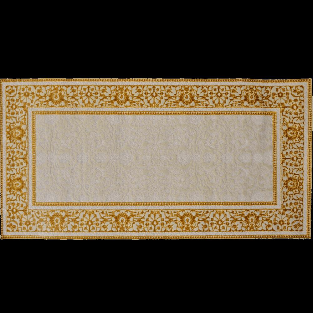 Covor dreptunghiular poliester Pera beige, poliester, 100 x 200 cm imagine MatHaus.ro